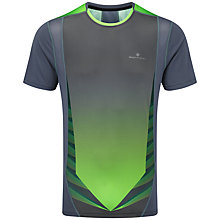 Buy Ronhill Advance Short Sleeve Running Top, Granite/Green Online at johnlewis.com