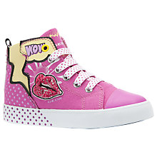 Buy Geox Children's Pop Art Ciak High-Top Shoes, Pink Online at johnlewis.com