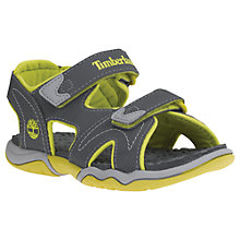 Buy Timberland Children's Adventure Seeker Rip-Tape Sandals, Dark Grey/Green Online at johnlewis.com