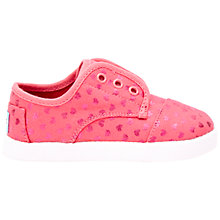 Buy TOMS Children's Paseo Soft School Shoes, Pink Online at johnlewis.com