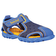Buy Timberland Children's Splashtown Fisherman Sandals, Navy/Orange Online at johnlewis.com