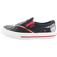 Buy Star Wars Earl Slip-On Trainers, Black Online at johnlewis.com