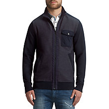 Buy BOSS Orange Zidanne 1 Cotton Sweatshirt Jacket, Dark Blue Online at johnlewis.com