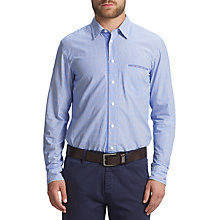 Buy BOSS Orange Cieloebue Fine Stripe Shirt, Medium Blue Online at johnlewis.com