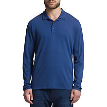 Buy BOSS Green C-Prato Long Sleeve Polo Shirt, Bright Blue Online at johnlewis.com