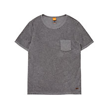 Buy BOSS Orange Teodori T-Shirt, Light Pastel Grey Online at johnlewis.com