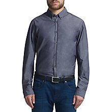 Buy BOSS Green C-Bertoldo Cotton Shirt, Navy Online at johnlewis.com