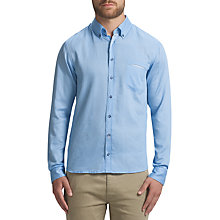 Buy BOSS Orange Etwiste Casual Shirt, Open Blue Online at johnlewis.com