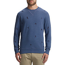 Buy BOSS Orange Wilcott Sweatshirt, Medium Blue Online at johnlewis.com