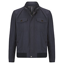 Buy Hackett London Airfield Blouson Jacket, Navy Online at johnlewis.com