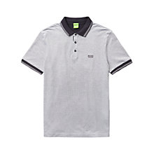 Buy BOSS Green C-Vito Cotton Polo Shirt, Grey Online at johnlewis.com