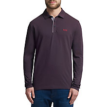 Buy BOSS Green C-Lesona Polo Top, Dark Purple Online at johnlewis.com