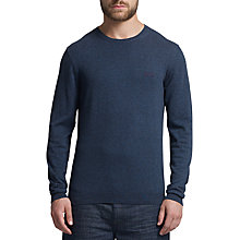 Buy BOSS Green C-Clark Crew Neck Jumper, Navy Online at johnlewis.com