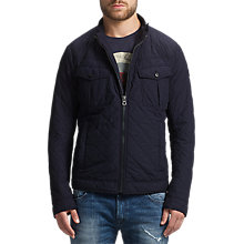 Buy BOSS Orange Okent Quilted Jacket, Dark Blue Online at johnlewis.com