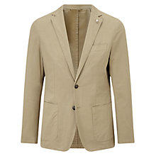 Buy Hackett London Textured Cotton Blazer, Khaki Online at johnlewis.com