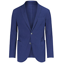 Buy Hackett London Textured Cotton Blazer, Bright Blue Online at johnlewis.com
