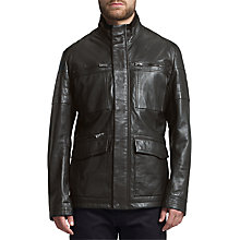 Buy BOSS Green C-Jeb Sheepskin Jacket, Black Online at johnlewis.com