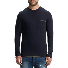 Buy BOSS Orange Krewo Crew Neck Jumper, Dark Blue Online at johnlewis.com