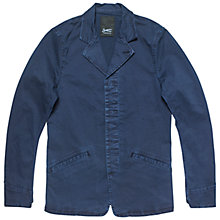 Buy Denham Argent Twill Workwear Blazer, Dark Navy Online at johnlewis.com