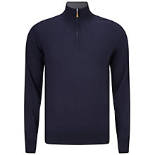 Buy Hackett London Half Zip Jumper, Navy Online at johnlewis.com