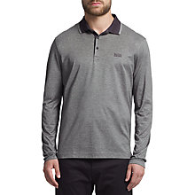 Buy BOSS Green C-Tivoli Long Sleeve Polo Shirt, Dark Blue Online at johnlewis.com