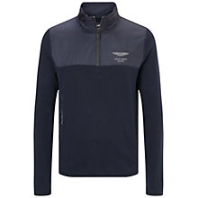 Buy Hackett London AMR Zip Jersey Top, Midnight Online at johnlewis.com
