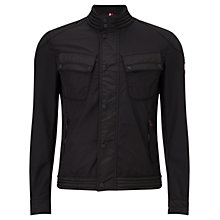 Buy Hackett AMR Touring Moto Jacket, Black Online at johnlewis.com
