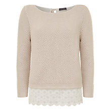 Buy Mint Velvet Lace Knit, Blush & Ivory Online at johnlewis.com