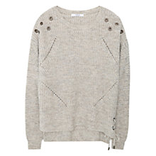 Buy Mango Studded Jumper, Pastel Grey Online at johnlewis.com
