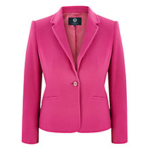 Buy Viyella Petite Wool Blend Teddy Jacket, Pink Online at johnlewis.com