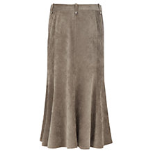 Buy Viyella Fit and Flare Corduroy Skirt, Khaki Online at johnlewis.com