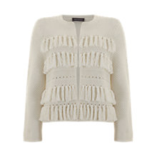 Buy Mint Velvet Fringe Cardigan, Ivory Online at johnlewis.com