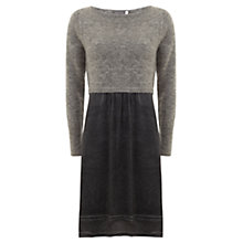 Buy Mint Velvet Overdye Layered Dress, Granite Online at johnlewis.com