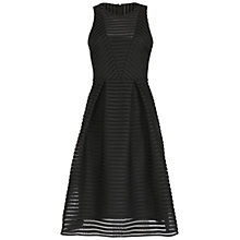 Buy Belle by Badgley Mischka Textured Midi Dress, Black Online at johnlewis.com