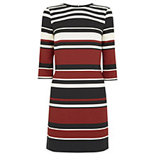 Buy Oasis Stripe Tunic Dress, Brown/Multi Online at johnlewis.com