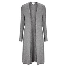 Buy East Lace Detail Jersey Cardigan, Smoke Online at johnlewis.com