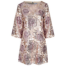Buy True Decadence Flared Sequin Dress, Pink Online at johnlewis.com