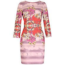 Buy Belle by Badgley Mischka Floral Print Dress, Red/Multi Online at johnlewis.com