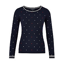 Buy Viyella Merino Spot Embroidered Jumper Online at johnlewis.com