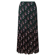 Buy East Mirebelle Pleat Skirt, Teal Online at johnlewis.com