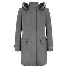 Buy Viyella Marl Duffle Coat, Silver Grey Online at johnlewis.com