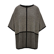 Buy Viyella Petite Seam Detail Poncho, Grey Online at johnlewis.com