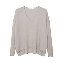 Buy Mango Metallic Side Slit Jumper, Pastel Grey Online at johnlewis.com