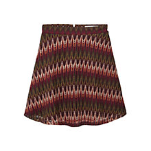 Buy Mango Geometric Openwork Skirt, Dark Red Online at johnlewis.com