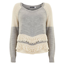 Buy Mint Velvet Fringe Knit, Multi Online at johnlewis.com