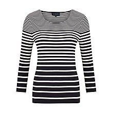 Buy Viyella Graduated Stripe Top, Ivory Online at johnlewis.com