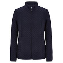 Buy Viyella Quilted Jersey Jacket, Navy Online at johnlewis.com
