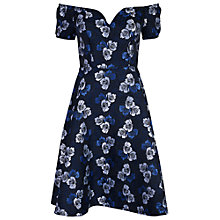 Buy True Decadence Bardot Floral Skater Dress, Blue Online at johnlewis.com
