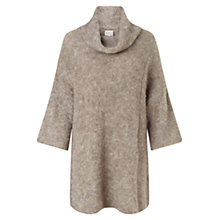 Buy East Cowl Neck Boucle Jumper, Stone Online at johnlewis.com