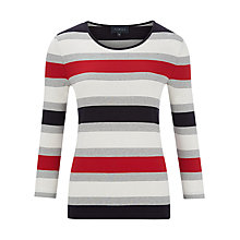 Buy Viyella Nautical Stripe Top, Red Online at johnlewis.com